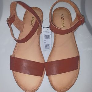 Soda Dark Brown Sandals